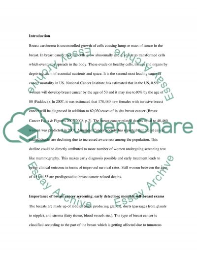 Breast Cancer essay example