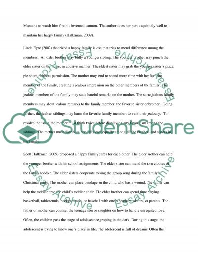 "happy family essays Essay on ""i love my family""  it can be called as sweet and happy family this is the true definition of complete family each person carries one family and each one proudly says ""i love my family""  related essays: essay on the role of family in the development of child  comprehensive essay on bonds of a family  essay on the."