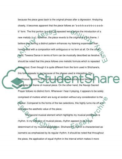 Music Listening essay example