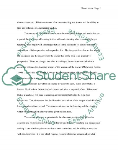 Who am I as a Learner and who am I Becoming a Teacher essay example