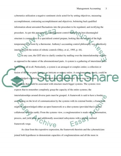 Management accounting- S-10 essay example