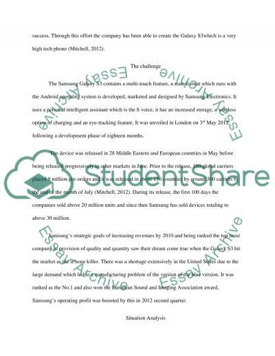 Executive summary for Suamsung essay example