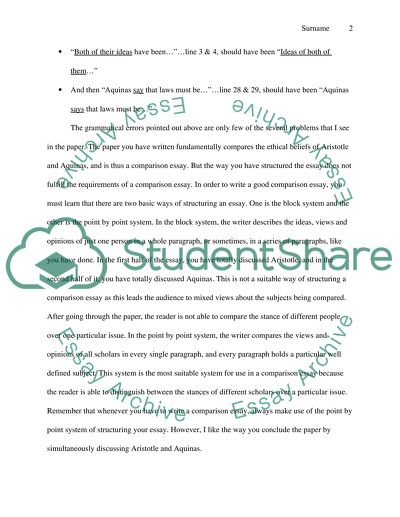 Peer review of classmates papers