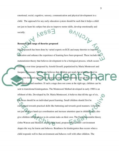 Childhood Education essay example