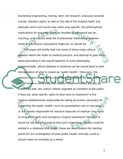 Medical Ethics, Modern Situations essay example