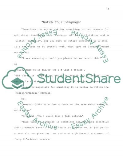 Discourse analysis (MA communication studies) essay example