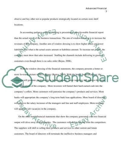 Finance and accounting assignment: Advanced financial reporting and regulation essay example