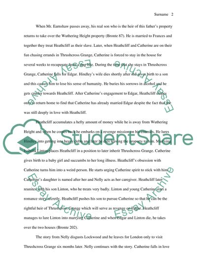 wuthering heights essay topics