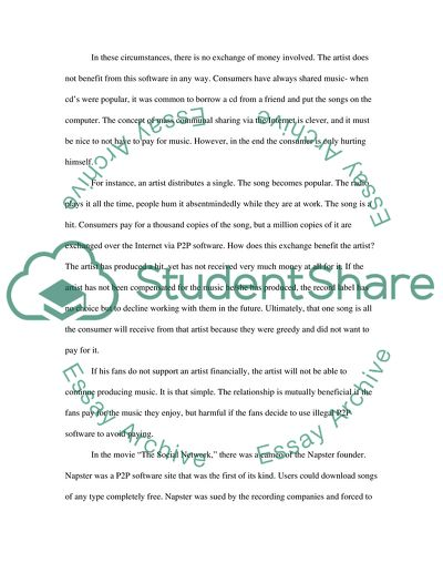 Draft of your File-Sharing Essay