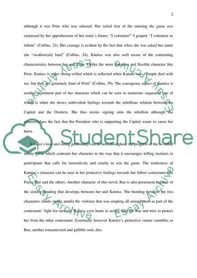 Katniss everdeen essay