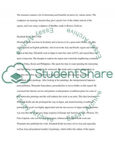Elizabeth Keith essay example