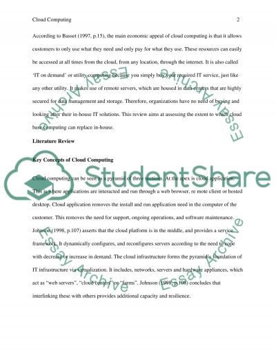 In and out of cloud computing essay example