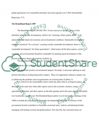Achieving Sustainable Development in Construction essay example
