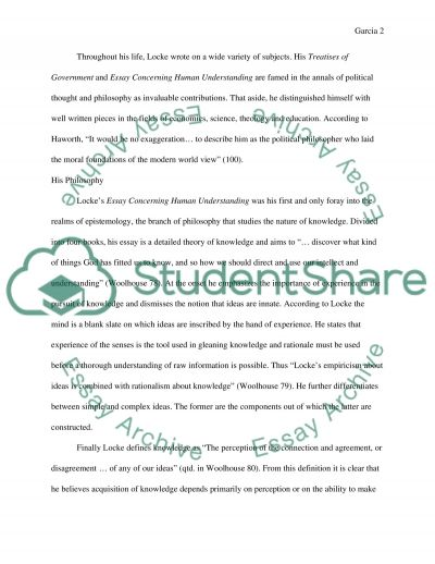John Locke Essay essay example