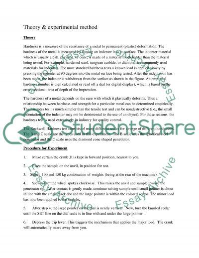 Rockwell Hardness Testing essay example
