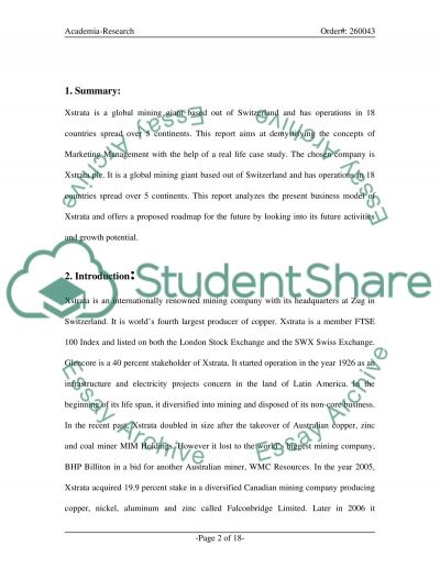 Marketing Management essay example