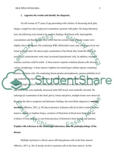 hematology case study assignment essay example topics and well hematology case study assignment essay example