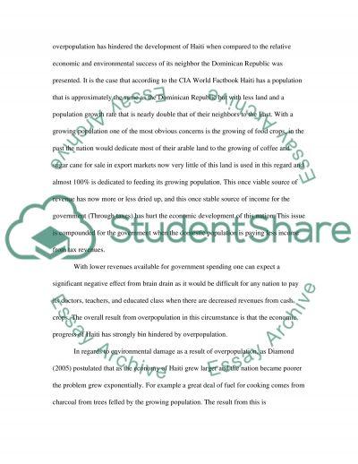 Inviromental changes writing assigment 6