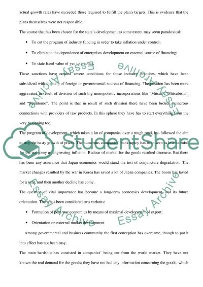 International Economic Growth (Economics) essay example