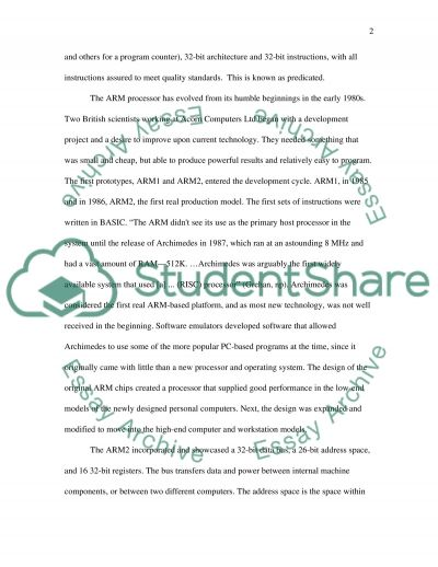 ARM Processors Essay example