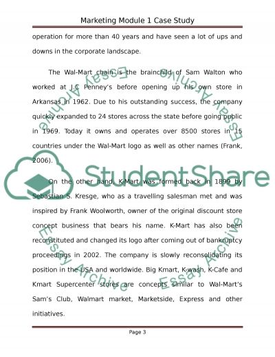 Marketing module 1 Case Study  Essay example