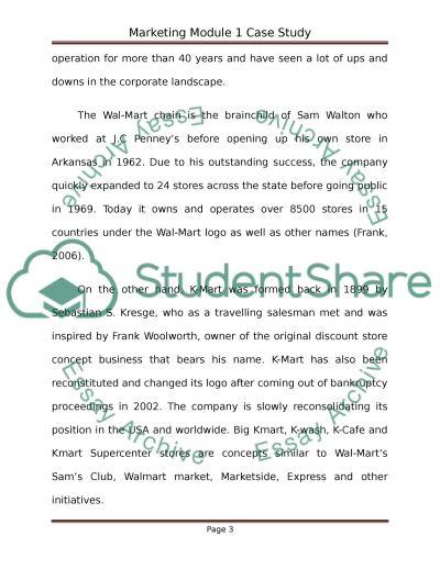 Marketing module 1 Case Study