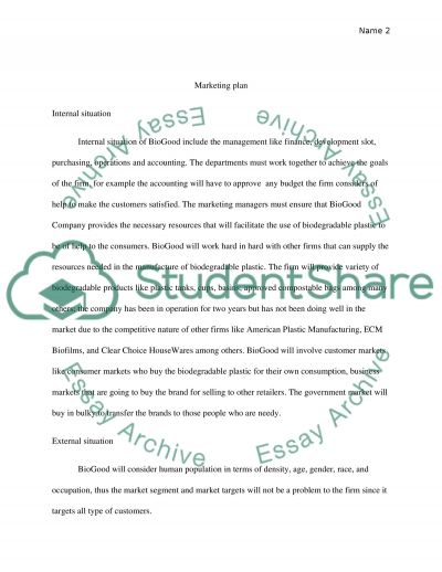 marketing plane Research Paper example