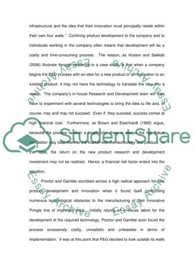P&G essay example