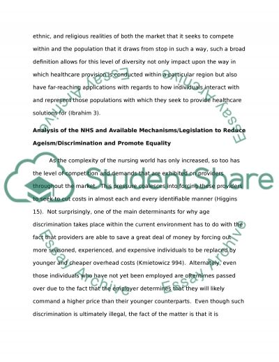 Equality and Diversity Essay example