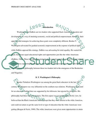 Primary Document Analysis Paper #1