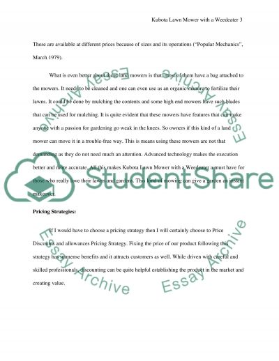 Kubota Lawn Mower with a Weedeater essay example