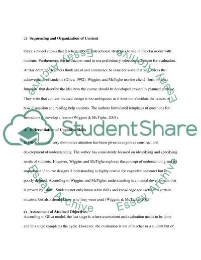 Curriculum Development essay example