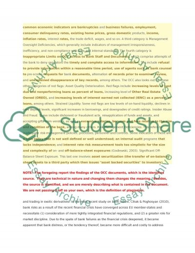 What are the main determinants of bank failure essay example