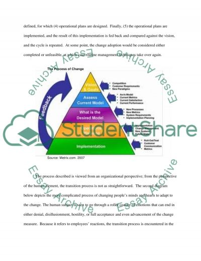 Imlementing strategy essay example