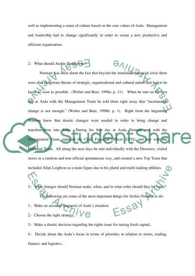 ASDA Essay essay example