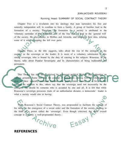 Summary Essay essay example