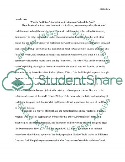 Buddhism. What Are Its Views On God And The Soul essay example