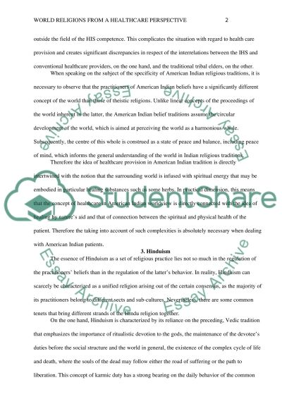 World Religions From A Healthcare Perspective essay example