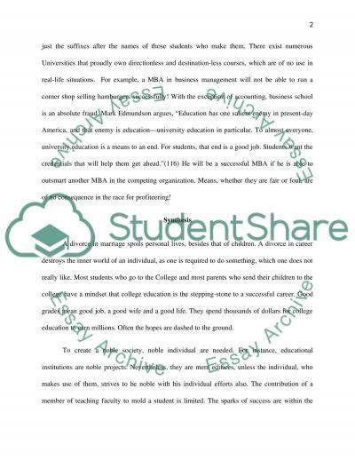 Liberal Arts Education essay example
