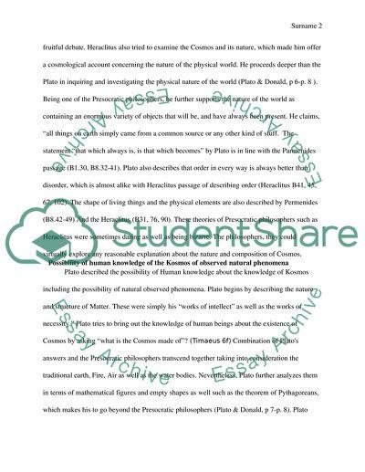 Model contrast essay