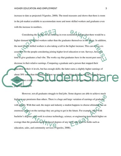education and employment essay