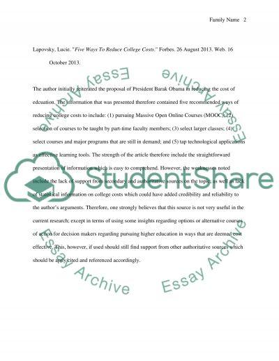 Summary/critique of essay sources