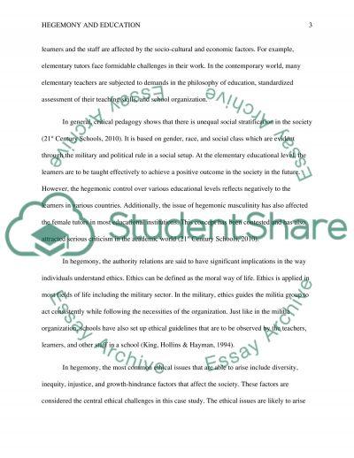 Hegemony and Educatiom essay example