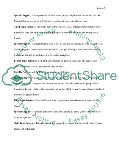 Fifth Essay Outline