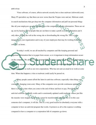 IT Protect against Viruses essay example