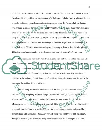 Music report essay example