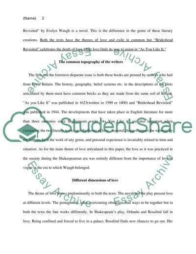 brideshead revisited essay topics