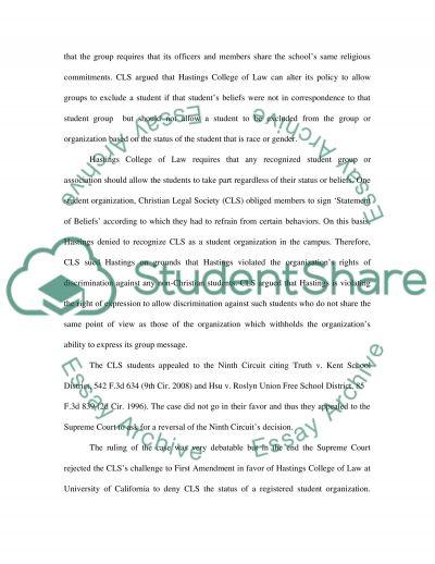 CLS v. Martinez, 561 U. S essay example