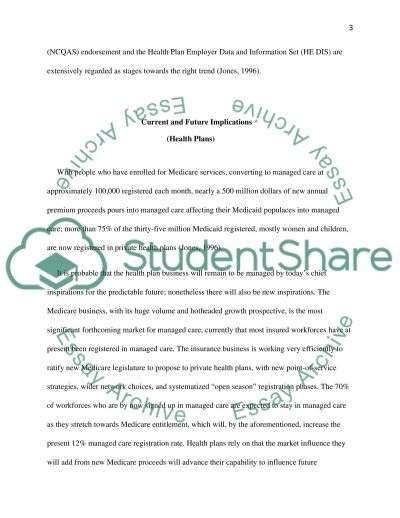 managed care organization essay An introduction to the types of managed care organization pages 10 words 2,245 view full essay sign up to view the complete essay show me the full essay.