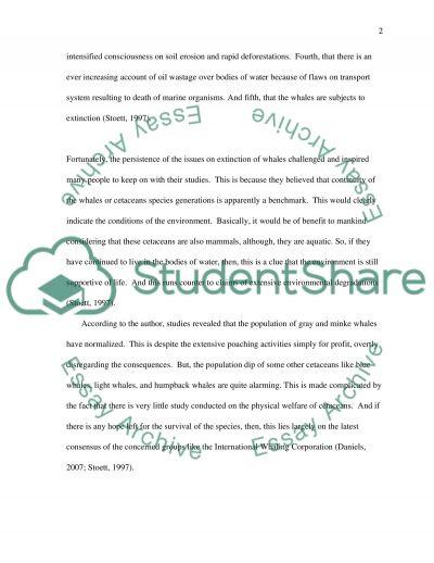 Environmental Conservation Essay essay example